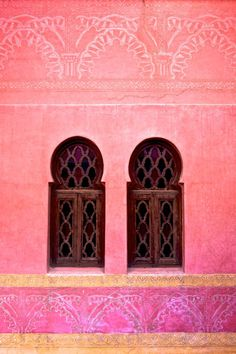Marrakech - colour for back wall (terrasse).