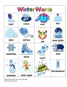 Winter word bank that students can use to help increase a handy little tool to keep in your students writing workshop folders features winter words sciox Gallery
