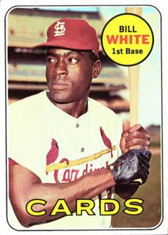 1969 Topps #588 Bill White Front
