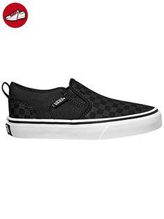 Vans Asher, Jungen Sneakers, Schwarz (checker/black/black), 36.5
