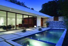 15 New Ideas For Backyard Patio Diy Easy Summer Diy Patio, Backyard Patio, Outdoor Pool, Indoor Outdoor, Outdoor Living, Architecture Design, Modern Architecture House, Design Exterior, Modern Exterior
