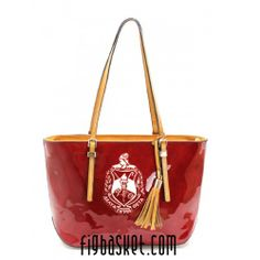 Delta Sigma Theta patent leather purse