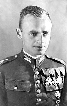 Witold Pilecki (13 May 1901 – 25 May 1948; codenames Roman Jezierski, Tomasz Serafiński, Druh, Witold) was a soldier of the Second Polish Republic, the founder of the Secret Polish Army resistance group and a member of the Home Army. As the author of Witold's Report, the first intelligence report on Auschwitz concentration camp, Pilecki enabled the Polish government-in-exile to convince the Allies that the Holocaust was taking place.