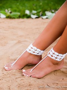 Crochet barefoot sandals Barefoot sandals wedding by BarmineClub
