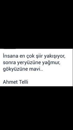 İnsana en çok şiir yakışıyor, ... Ahmet Telli