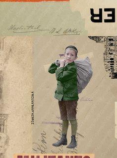 Collage #1806  Bild des Jungen koloriert von Rob van den Berg Image of boy colored by Rob van den Berg  https://www.flickr.com/photos/robvndb