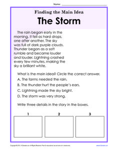 2nd Grade Main Idea Worksheets   Resources for Work   Pinterest ...