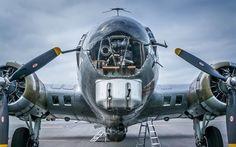 壁紙をダウンロードする b-17g, フライングフォ, ボーイング, 爆撃機