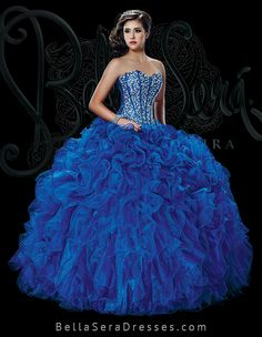 b5ce068da9b Wholesale sweet 15 dress new 2016 royal blue fully beaded and rhinestones  organza quinceanera ball gown. Quince Dresses Bella Sera