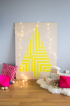 DIY Painted Plywood Christmas Tree - festive decor for your home, classroom or party.