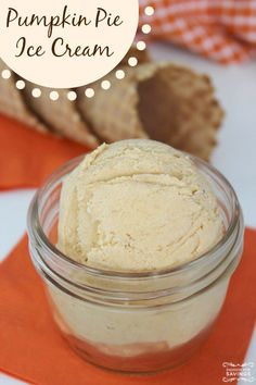 Easy No Churn Pumpkin Pie Ice Cream Recipe! Homemade Fall Dessert Recipe!