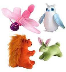 Naturally, each of the Magic Cabin Fairies has a best friend in the forest! Handcrafted from cuddly cotton velour and wool stuffing, choose Bunny, Dragonfly, Squirrel or Owl. Made in Latvia