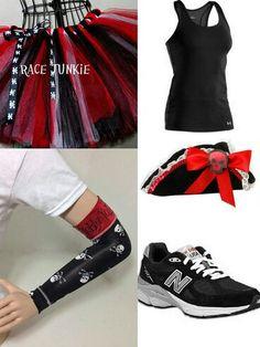 Pirate running costume...I like the red/black/white tutu for the PIrate Half