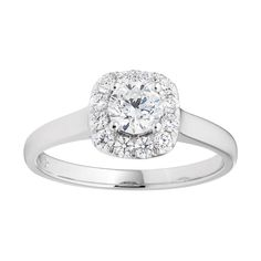 Flawless Cut Diamond Engagement Ring in 18ct Gold (TW=75pt) image-a