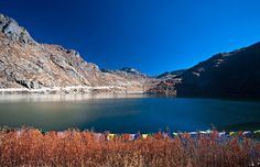 Tsongmo Lake is a glacial lake in East Sikkim, some 40 kilometres (25 mi) away from Gangtok at an altitude of 3,780 m (12,400 ft). The road to Nathu La passes the lake from the north side. The Chinese border crossing is only some 5 kilometres (3.1 mi) east-northeast in a straight line, but 18 kilometres (11 mi) by road. #Done