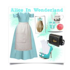 """""""Alice In Wonderland (I)"""" by kellycassie on Polyvore featuring moda, Fame & Partners, Sophie Conran, Mrs Moore's Vintage Store, Qupid, Topshop, Tiffany & Co., Wet Seal, Alice y aliceinwonderland"""