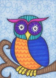Inspiration that could be used to make a Tree Owl out of paper. Nice accent on a scrapbook page.
