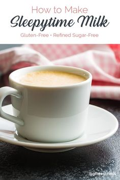 Sleepy Milk Recipe (To Help You Fall and Stay Asleep) - Food Meme - www.glutenfreesch The post Sleepy Milk Recipe (To Help You Fall and Stay Asleep) appeared first on Gag Dad. Warm Milk Recipe, Yummy Drinks, Healthy Drinks, Detox Drinks, Detox Cleanse For Weight Loss, Gluten Free Drinks, Dairy Free Milk, Vegetable Drinks, Milk Tea