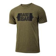 Men's crossfit weightlifting gift idea - Raise the Bar - Military Green - Men's Triblend T-shirt