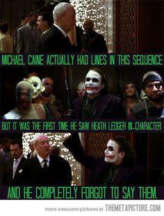 Haha, Heath Ledger did an epic job as the Joker :)