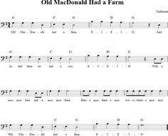 Old MacDonald Had a Farm Cello Sheet Music - http://cellosheetmusic.net/title/old-macdonald-had-a-farm/