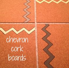 Chevron cork boards : DIY: Teen Craft