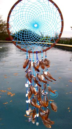 Blue Sea Shell Dream Catcher