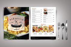 Modern Restaurant Menu Versatile Menu restaurant Restaurant menu design Menu design
