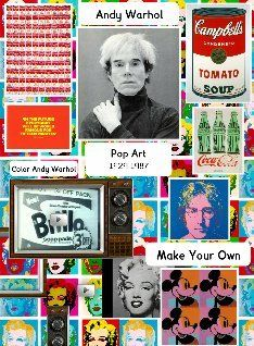 Andy Warhol I like the way this looks. Exciting layout. Good example to base other artist posters/handouts