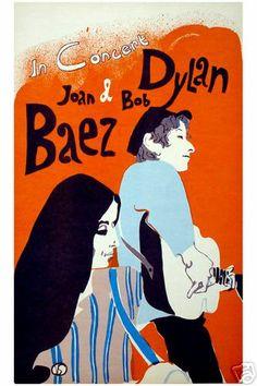 Concert poster : Joan Baez & Bob Dylan