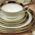 Aynsley China Empress Cobalt 5Pc Completer Set Cobalt, China, Plates, Tableware, Licence Plates, Plate, Dinnerware, Dishes, Dish