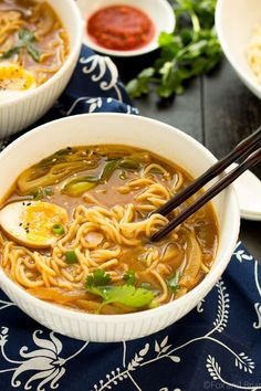 ramen noodle recipes This Easy Chicken Ramen can be made at home in about 30 minutes! A flavorful broth with chicken and noodles, and dont forget the ramen egg! Soup Recipes, Chicken Recipes, Cooking Recipes, Chicken Soup, Easy Ramen Recipes, Homemade Ramen Noodle Recipes, Chicken Ramen Bowl Recipe, Ramen Noodle Recipes Chicken, Asian Egg Noodle Recipes