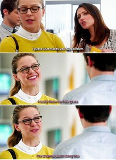 """""""I could throw her into space. I've dreamed about doing that"""" - Kara, Winn and Siobhan #Supergirl"""