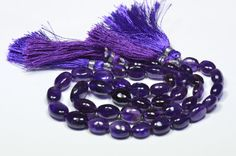 SALE 9mm11mm 9 AAA Amethyst tumble beads AM008 by ShangrilaGems, £27.95
