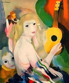 Marie_Laurencin ~ La femme a la guitare