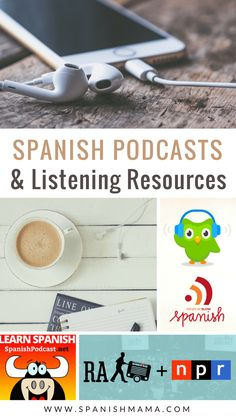 The Best Spanish Podcasts for Learning Spanish at Home The best Spanish podcasts and listening resources for Spanish learners, teachers, and classes. Get access to native speakers and learn Spanish naturally. Spanish Teaching Resources, Spanish Activities, Spanish Language Learning, Learn A New Language, Listening Activities, Preschool Spanish, Spanish Basics, Ap Spanish, Spanish Lessons
