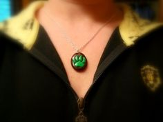"World of Warcraft Inspired ""Green Paw Print"" Pet Battle Necklace"