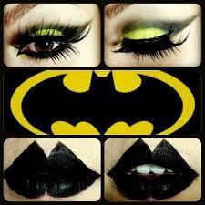 Batgirl eye make up Batgirl Halloween, Batgirl Costume, Up Halloween, Diy Halloween Costumes, Halloween Makeup, Costume Ideas, Haunted Halloween, Halloween Foods, Creative Costumes