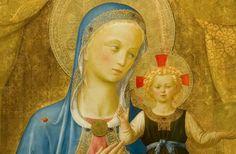 Madonna col Bambino particolare del tabernacolo dei Linaioli a Firenze.