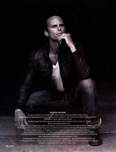 Walton Goggins, an amazing actor.  Loved him in Justified and his spectacular cameo in Sons of Anarchy.