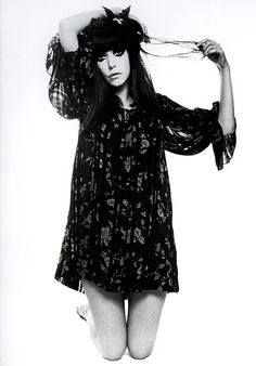Peggy Moffitt pattern sheer dress