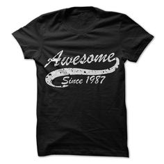 Awesome since 1987 T Shirts, Hoodies. Check price ==► https://www.sunfrog.com//Awesome-since-1987.html?41382