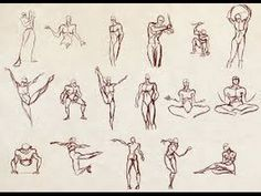 How I Draw People in Dynamic Poses. Figure & Gesture Drawing ...