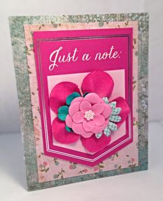 Just a Note by JBRCards on Etsy Cute handmade card.  Would be a great way to tell someone you miss them. :)
