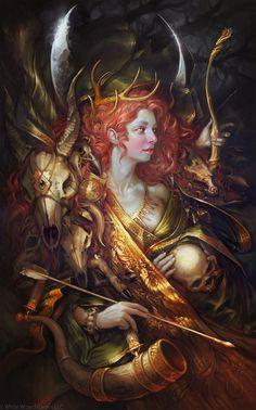 Diana, Sabbas Apterus on ArtStation at https://www.artstation.com/artwork/vYZ8D