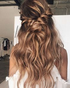 Braid half up half down hairstyle ideas #braids #hairstyles #hairstyle