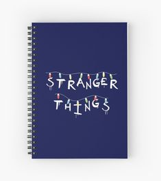"""Stranger Things"". You recognize this from Will's Mother's Wall! For who loves Eleven (Millie Bobby Brown), Mike (Finn Wolfhard), Dustin (Gaten Matarazzo), Lucas (Caleb McLaughin), Will (Noah Schnapp), Joyce (Winona Ryder), Chief Hopper (David Harbour). #strangerthings, #netflix #strangerthingsfan #nerd #geek #friendsdontlie #eleven #mike #dustin #lucas #chiefhopper #hawkins #upsidedown #dungeonsanddragons #notebook #journal #stationery #student Stranger Things Lights, Don T Lie, Xmas Lights, Winona Ryder, Nerd Geek, Bobby Brown, Netflix, Geek Stuff, Stationery"