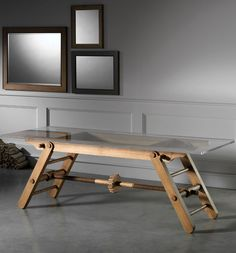 Wooden table by L'Ottocento #wood #interiors