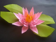 Origami-Lotus flower