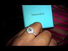 .5 carat Tiffany Soleste! My dream ring! Look at the sparkle! Ahhh.... I am in love!!!!